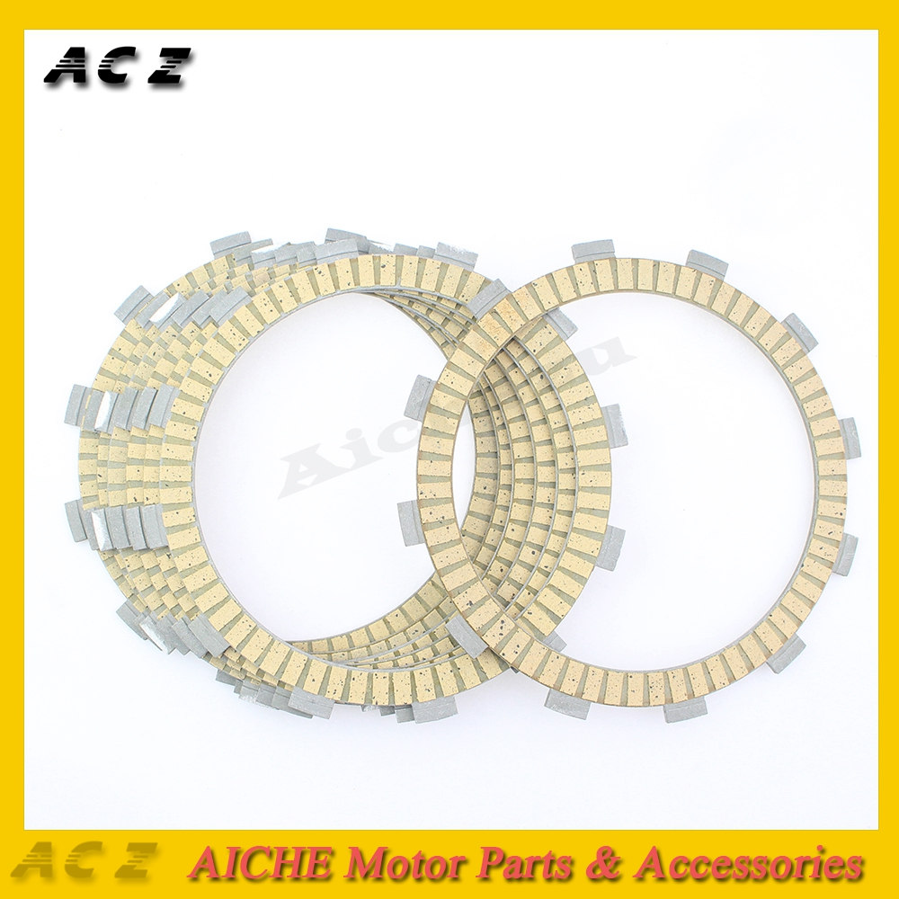 ACZ Motorcycle Clutch Friction Plates Paper-Based Clutch Frictions Plate Kit For Kawasaki ZZR400 ZRX400 KLE 400 / 500 1989-2003