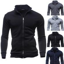 Jacket Fashion Cardigan Zipper Tops Outerwear & Coats Autumn Winter Leisure Men's Jacket chaqueta hombre 18SEP12