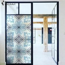 Европейская ретро пленка для окна матовая стеклянная дверь гостиной