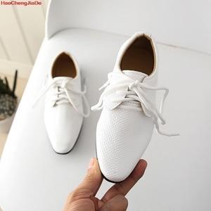 الفتيان أحذية من الجلد الأطفال جلدية الزفاف أكسفورد أحذية مصمم الأسود المدرسة فستان كاجوال أحذية للأطفال