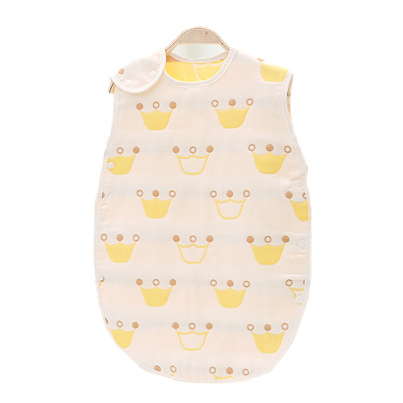 Детский спальный мешок 45*80 см 100% Муслин Хлопок 6 слоев 3-6 лет пижамы без рукавов Обувь для девочек Обувь для мальчиков Слиперы детские костюм...