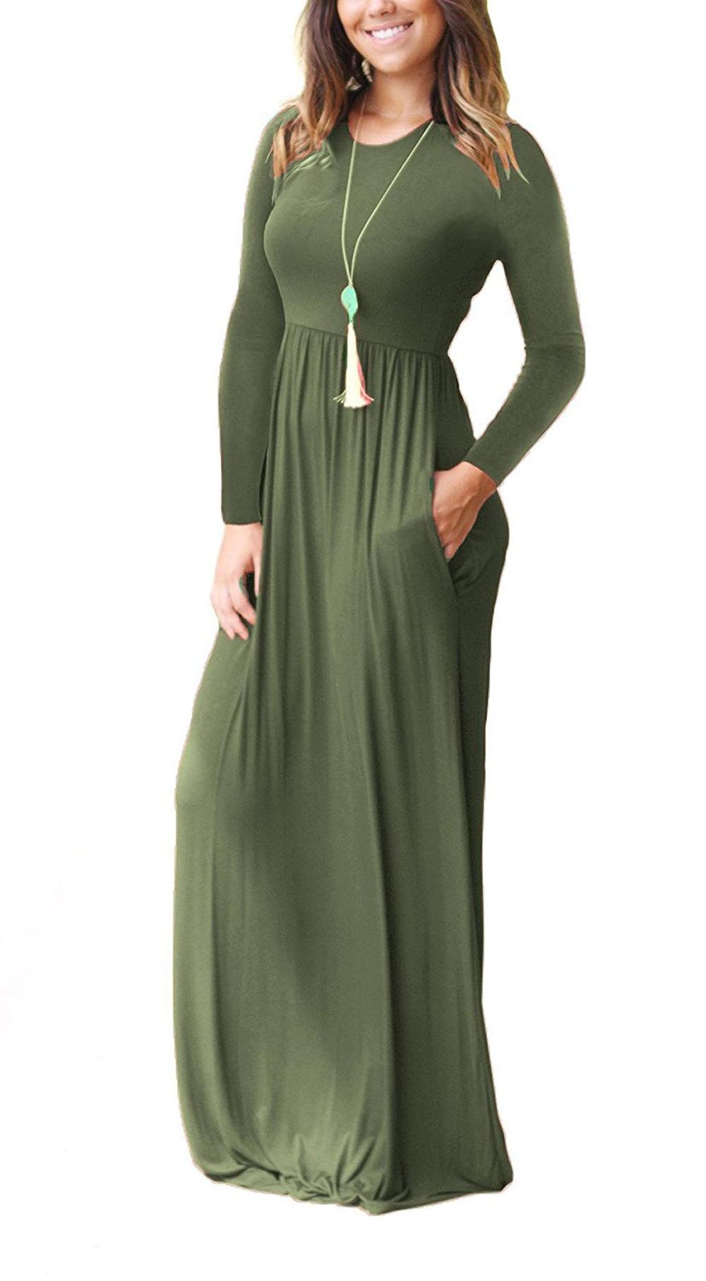 95ff0c79c917 Primavera autunno vestito di maternità per le donne incinte vestiti o-collo  solido maxi vestito gravidanza abiti Gravida abbigliamento taglia S-2XL