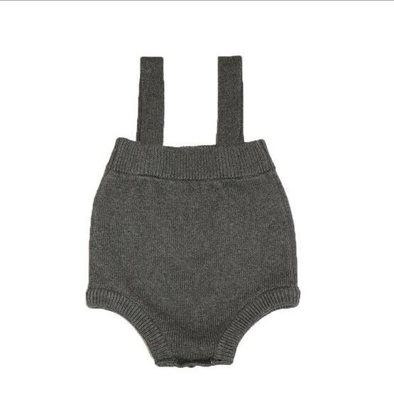 2017 Baby & Kids roupas vestido sem mangas macacão crianças calças de algodão pp roupas 1-5y ins hot malha suspensórios macacões