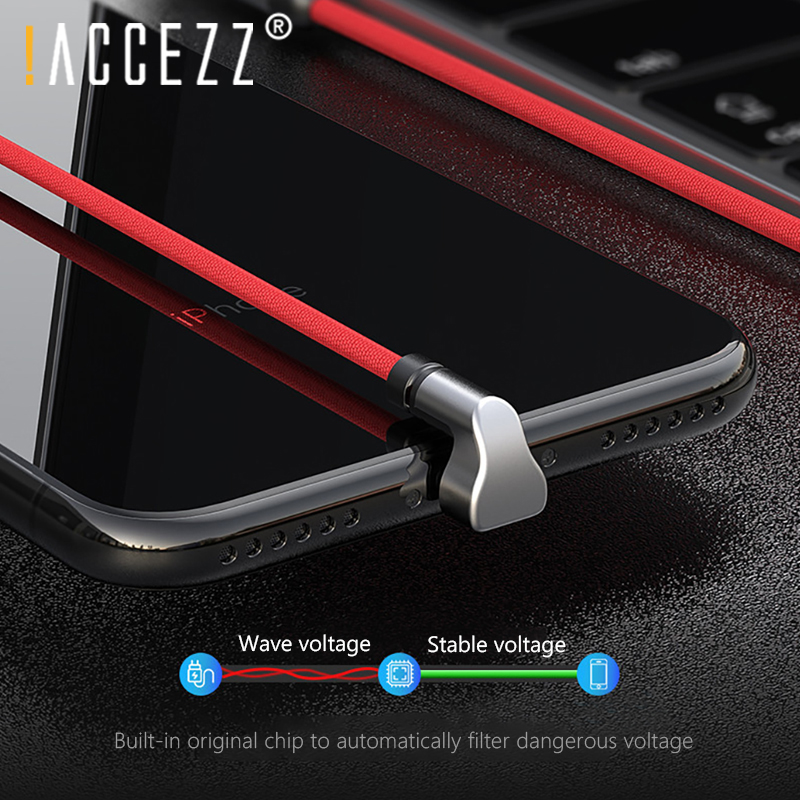 !ACCEZZ Lighting USB Charging Sync Data <font><b>Cable</b></font> For <font><b>IPhone</b></font> X XS XR Fast Charge <font><b>Cables</b></font> For Apple Phone6 6S 7 <font><b>8</b></font> SE Plus Charger Cord image