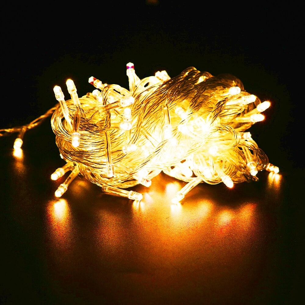 Ledsträngslampor 2M 3M 4M 1M 10-40Leds 9 färger drivna med batteri - Festlig belysning - Foto 4
