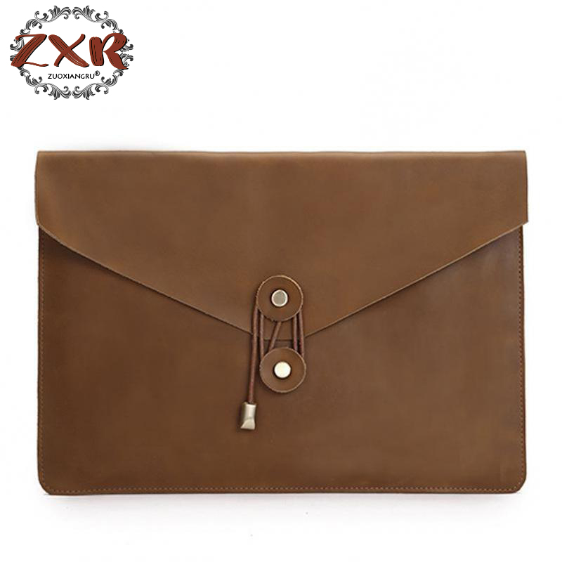New Genuine Leather Briefcases For IPad 15.2 15.7 17 17.5 19.6 2 Inch Pro Case Women Men Bag For Macbook Touch Case Cover
