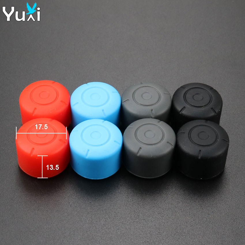 YuXi 8Pcs Anti Slip Silicone Grips Caps Case For Joy Con Controller Analog Cover For Nintend Switch Console in Replacement Parts Accessories from Consumer Electronics