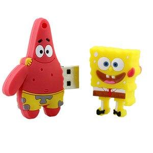 Image 4 - Pendrive de 4GB, 8GB, 16GB, 32GB, 64GB, unidad Flash USB, lindo Bob Esponja, Patricio, unidad de lápiz de dibujos animados creativa