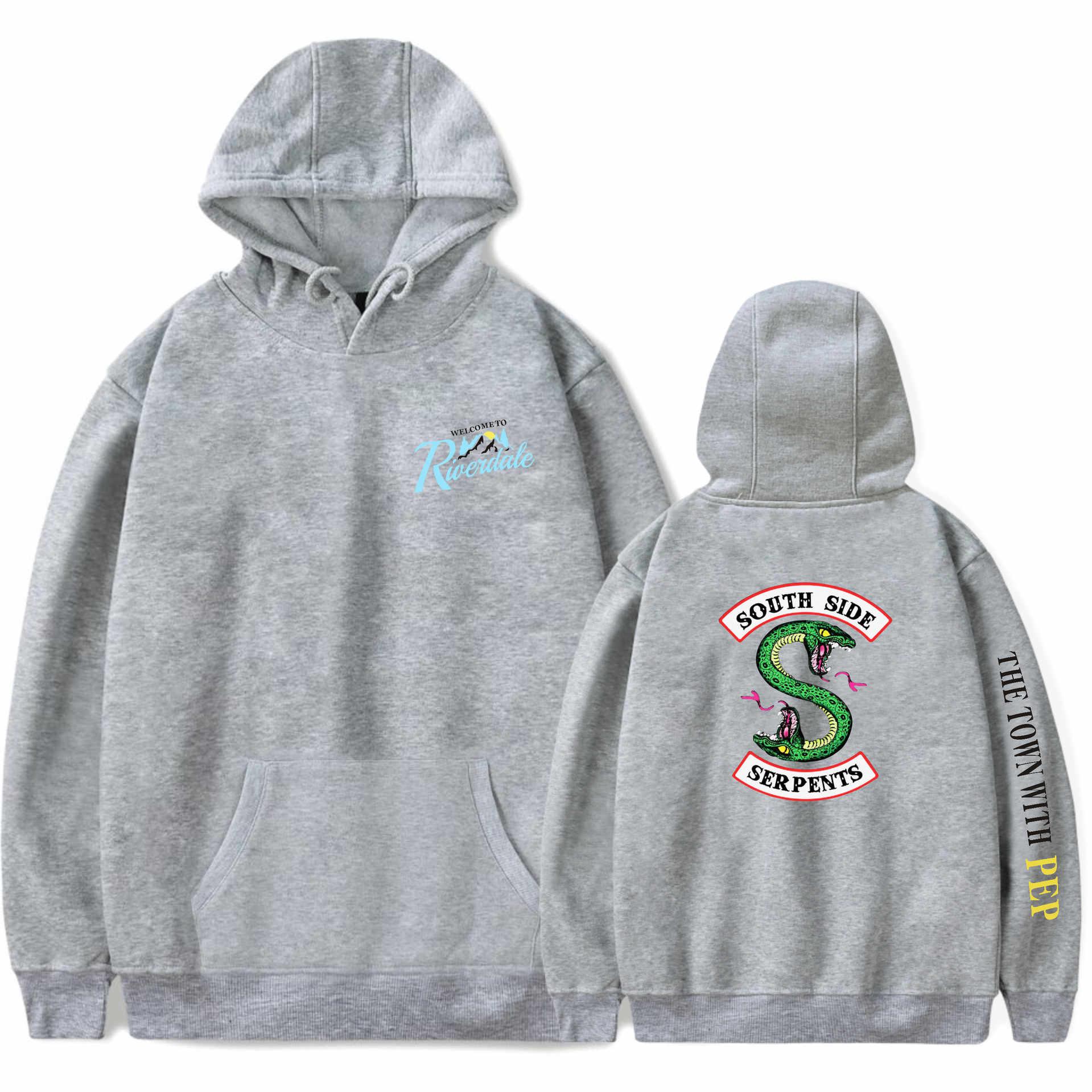 New Riverdale Hoodies Pullovers Tops Plus Size South Side Serpents Streetwear Women Long Sleeve Hoodie Sweatshirt Casual Hooded