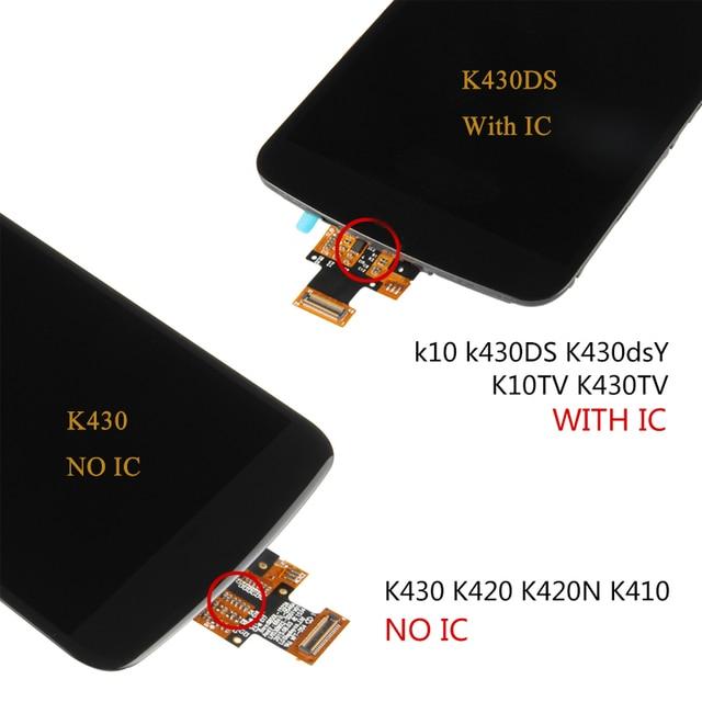 """ORIGINAL 5.3"""" Display For LG K10 LCD Screen Digitizer Assembly Display For LG K10 LCD K10 LTE K430 K430DS K420N 420N Replacement"""
