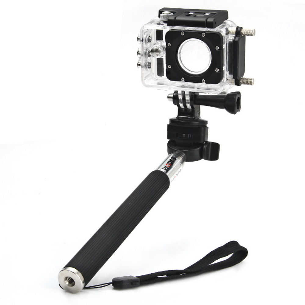SJCAM Foldable Selfie Stick Camera Monopod with Adapter GoPro Hero 4/3+/3/2/1/SJ4000/SJ5000/SJ6000 Action Camera Selfie Sticks universal waterproof camera bag vedio dv case for gopro hd hero 3 3 4 sj6000 sj5000 sj4000