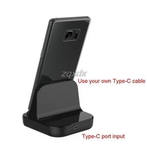 Image 2 - סוג C Dock מטען טעינת שולחן העבודה USB C 3.1 עריסת תחנת עבור אנדרואיד טלפון Whosale & Dropship