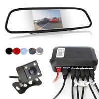 Dual Core CPU Car Video Parking Sensor Reverse Backup Radar Auto parking Monitor Digital Display and Step up Alarm