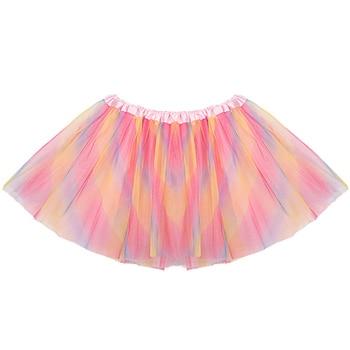 Fashion Sweet Children Girls Skirt Net Yarn Mini Girls Tutu Skirt Dance Wear Princess Ball Gown Skir