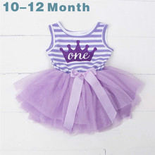 Summer Cotton Girls 1st 2nd 3rd Birthday Dresses Children Sweet Girl Clothes Party Dress For Baby Kid Belt Clothes Tulle Costume