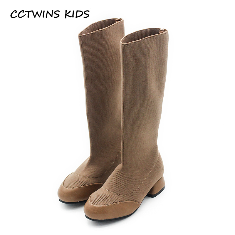 CCTWINS KIDS 2018 Autumn Baby Girl Fashion knee High Boot Toddler Brand  Shoe Children Black Princess Heel Camel H009 b4338ed33005
