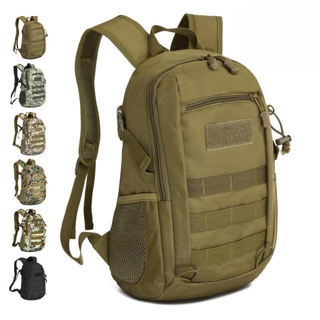 Sacos de lona, À Prova D' Água Molle Mochila Militar 3 P Escola Trekking Ripstop Woodland Engrenagem pequena para os homens 12L