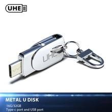 UHE USB Flash Drive Type C 2 0 Dual Metal OTG Cell Phone USB Pendrive 2