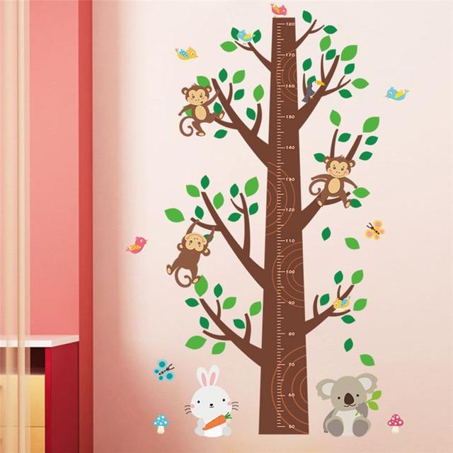 US $5.75 24% OFF|Dschungel Affen Baum Kinder Baby Kinderzimmer Wand  Aufkleber Wandbild Decor Aufkleber Abnehmbare Schablone wand designs 810 in  ...