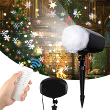 Led Christmas Snowfall Projector Outdoor IP65 Garden Laser Projector Lamp New Year Snow Scene Snowflake light for Party/wedding недорого