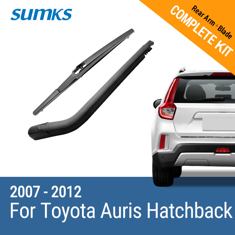 SUMKS Rear Wiper & Arm for Toyota Auris Hatchback 2007 2008 2009 2010 2011 2012