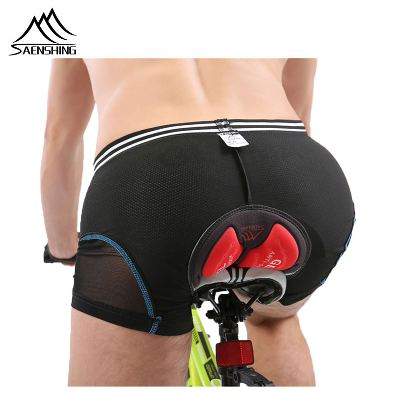 SAENSHING Cycling Shorts bike 5D Gel Padded Underwear Downhill Mtb Shorts Men Mountain Bicycle Male Compression Tights Shorts