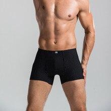 3PCS/LOT Men Sexy Underwear Boxer Denim Shorts Men Underwear Male Calvin Brand Long Boxer Sexy Couples Underwear Free Gun AB-305