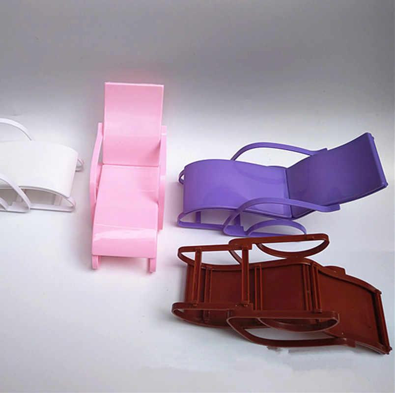 1 шт розовый стулья мечта дом качалки стул для пляжного отдыха для кукла 1/6 гостиная садовая мебель для кукла 1/6 аксессуары