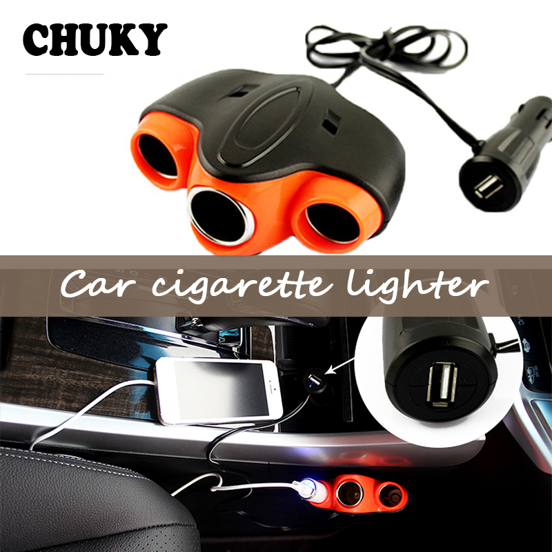 CHUKY Car Cigarette Lighter <font><b>USB</b></font> Charger <font><b>Adapter</b></font> Stickers For Hyundai Creta Tucson BMW X5 E53 <font><b>VW</b></font> <font><b>Golf</b></font> 7 <font><b>5</b></font> Tiguan Kia Rio Citroen image