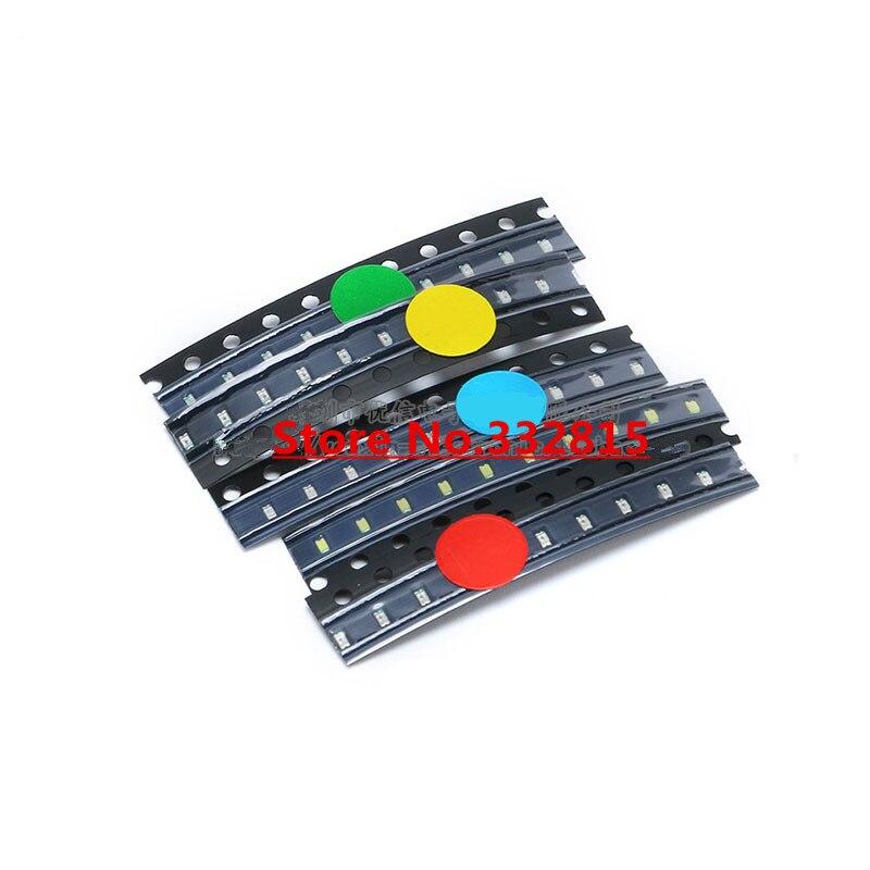 0805 LED Sample Kits 5colors*10pcs=50pcs RED YELLOW GREEN BLUE WHITE SMD LEDs Rohs FREE SHIPPING