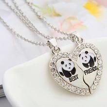 2 PCS/Set Animal Best Friends Friendship Couple Two Parts Pendant Necklace Best Gifts For Men Women BFF Jewelry Wholesale цена