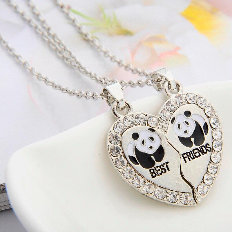 2 pçs/set animal melhores amigos amizade casal duas peças pingente colar, melhores presentes para homens mulheres jóias atacado