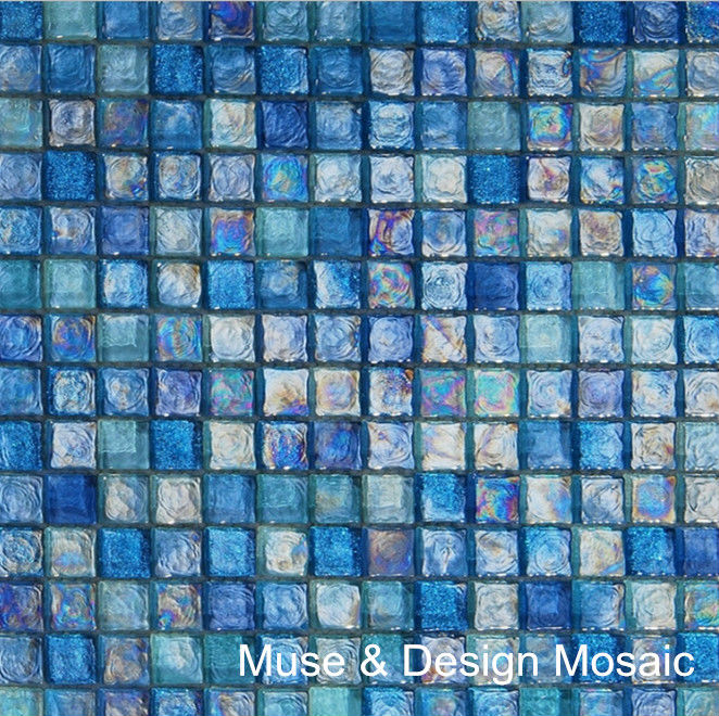 free shipping glaze crystal glass mosaic tile blue mosaic for bathroom wall border stairs porch kitchen wall