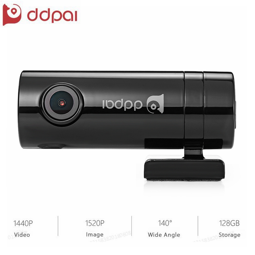 Mini2 Dash Cam WiFi Volle HD 1440 p 30fps Detektor Smart Auto DVR Kamera mit Fernbedienung Snapshot Nachtsicht WDR video Recorder Schwarz