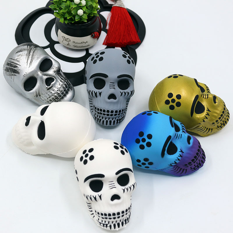Squishy  Slow Rebound Simulation Skull Whole Maggot Game Stress Relief Fatigue Extrusion Vent Tool Sensory Toys Festival Gift