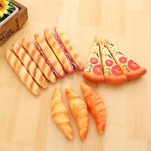 10pcs/lot New  office supplies fresh baguette bread simulation pen pizza ball with magnet