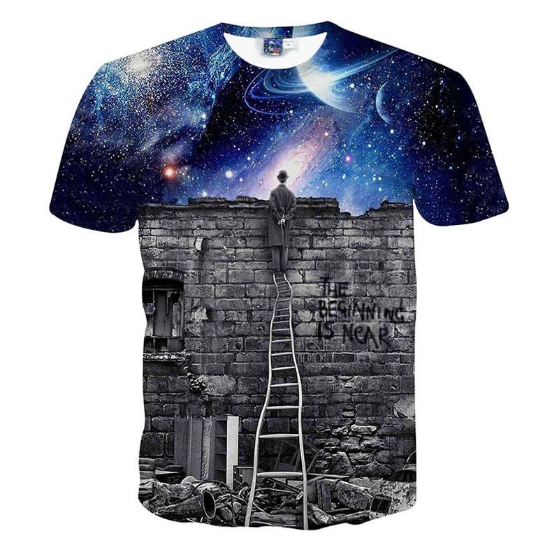 Férfi / női galaxis tér póló Nyomtatás a varázslónak - Férfi ruházat