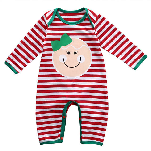 a4b32adb7 US $9.9 30% OFF|Cute Baby Rompers Newborn Baby Boy Girl Cotton Jumpsuit  Christmas Long Sleeve Baby Warm Outfits Infant Girls Xmas Clothes D0936-in  ...
