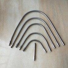 Hot M10 led gooseneck led flexible holder lamp M10 Male+Female Chrome Metal Hose universal soft pipe Metal serpentine tubes DIY