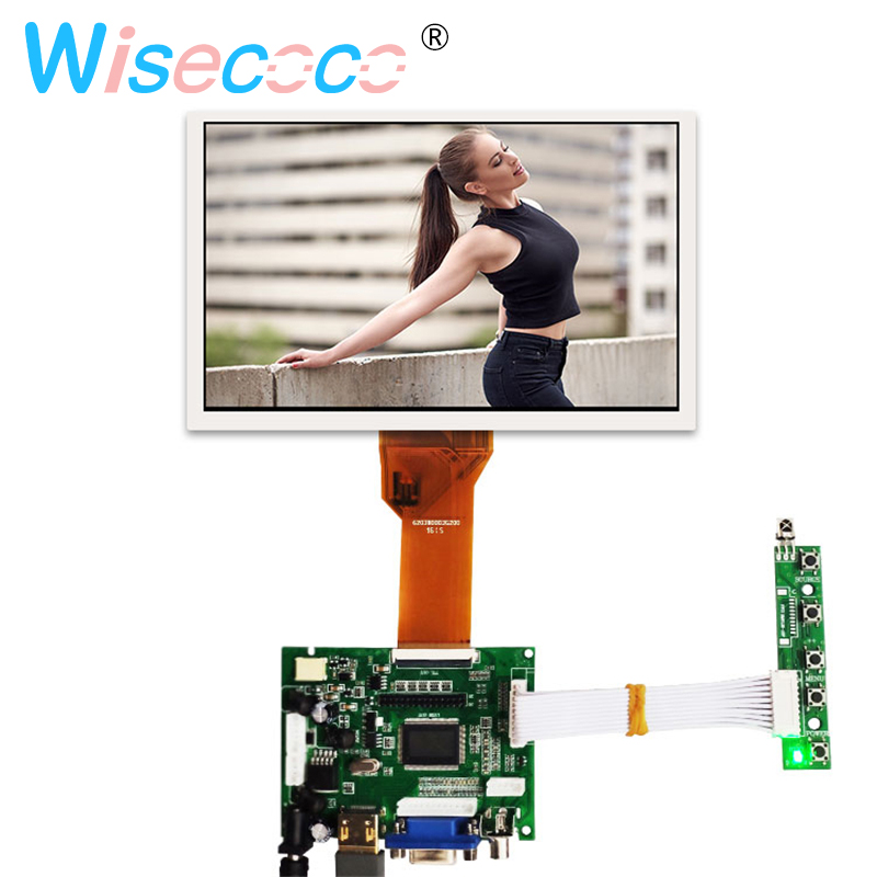 LCD Module 7inch LCD with touch Screen for Raspberry <font><b>Pi</b></font> <font><b>3</b></font> driver <font><b>board</b></font> Remote Control for Raspberry <font><b>Pi</b></font> 3B <font><b>Orange</b></font> <font><b>Pi</b></font> AT070TN94 image