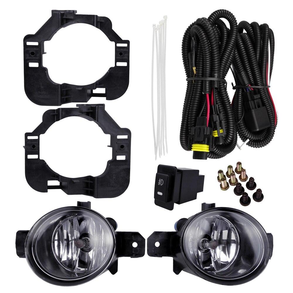 Ensemble de phares antibrouillard pour NISSAN ALTIMA 2008 4300 K 12 V 55 W couleur jaune lampe halogène ABS métal accessoires de phares de voiture Auto