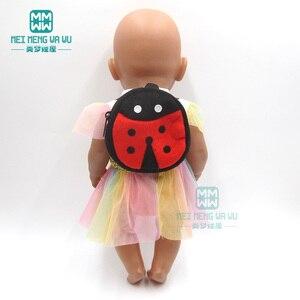 Image 2 - ملابس لل دمية صالح 43 سنتيمتر المولود الجديد دمية الكرتون أفخم ظهره