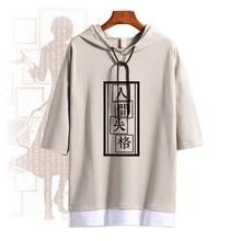 Anime Bungo Stray Dogs Osamu Dazai Cosplay Costume Summer Hooded T Shirt Short Sleeve Unisex Daily Pullover Tee Tops Fashion
