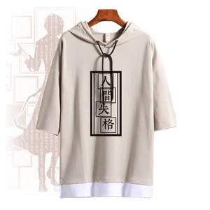 Image 1 - アニメ Bungo 野良犬中島敦コスプレ衣装夏 Tシャツ半袖毎日プルオーバー Tシャツトップス Tシャツ