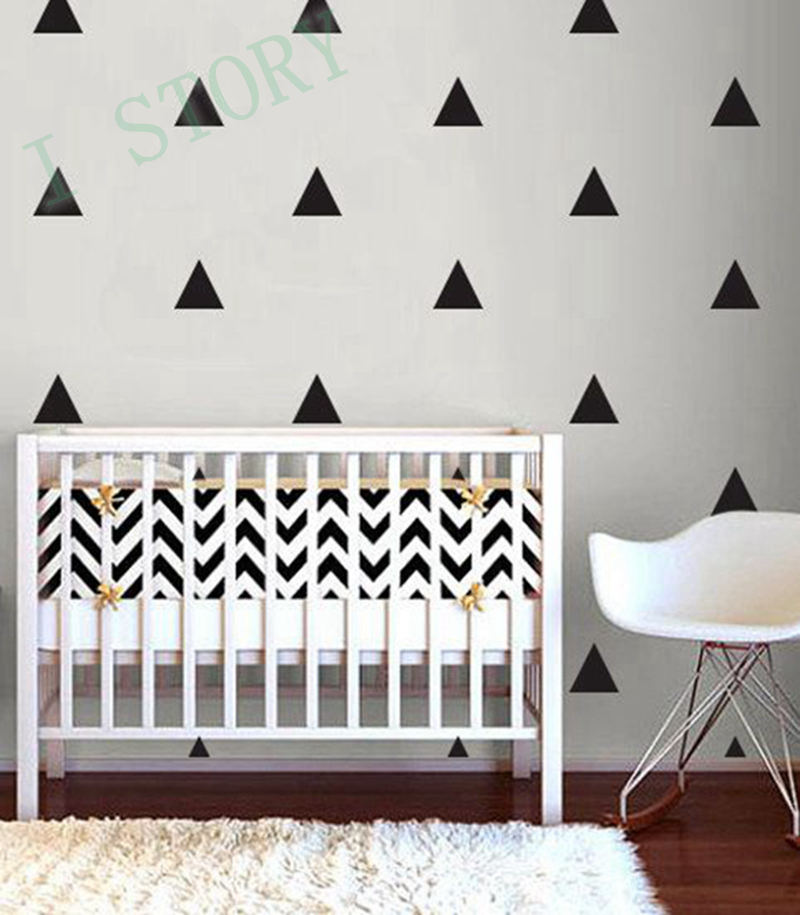 Aliexpress.com : Buy Triangles Wall Sticker Kids Room Wall Decoration /  Gold Triangles Wall Decal Nursery Wall Art Decor From Reliable Wall Decor  Suppliers ... Part 73