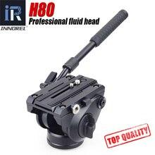 H80 ビデオ流体ヘッド油圧ダンピング一眼レフ三脚一脚マンフロット 501PL バードウォッチング 2 セクションハンドルパノラマヘッド 360