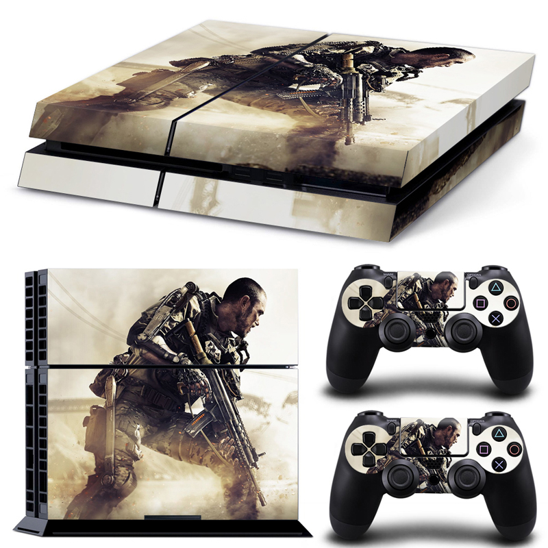 Battle Game play 4 Skin 1Set Vinyl Decal Skin Stickers For play station 4 Console PS4 Games+2Pcs Stickers For ps4 accessories