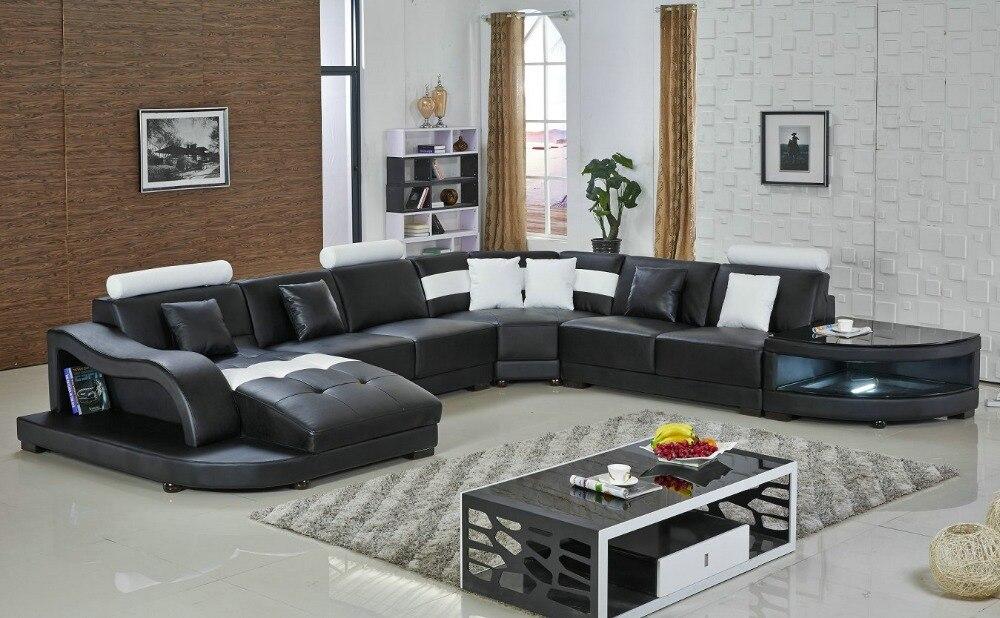 Online kopen wholesale hoekbank zwart lederen uit china hoekbank zwart lederen groothandel - Plaid voor sofa met hoek ...