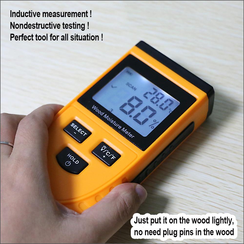 Tools : RZ Wood Moisture Meter Digital LCD Display Humidity Tester Wood Water Content Meter Detector Density Hygrometer Tools GM630