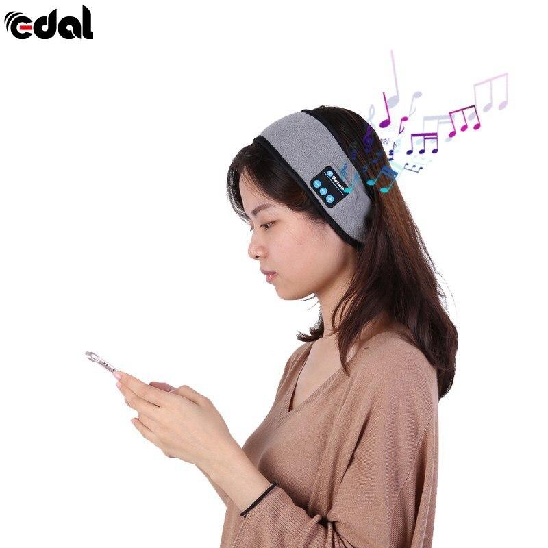 Wireless Bluetooth Headband Wireless Bluetooth Smart Caps Headphone Headset Speaker Mic portable bluetooth v3 0 wireless headband headphone orange white page 1
